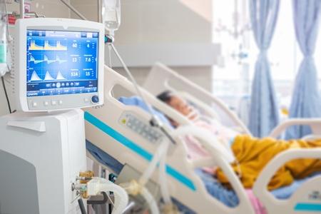 a patient in intensive care unite